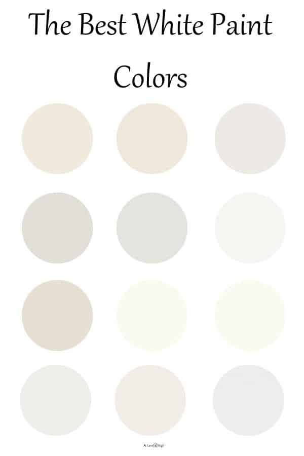 The best white paint colors pin for Pinterest.